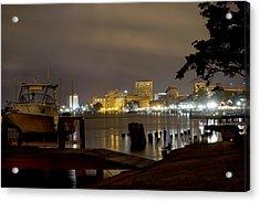 Wilmington Riverfront - North Carolina Acrylic Print by Mike McGlothlen