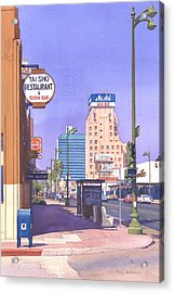 Wilshire Blvd At Mansfield Acrylic Print by Mary Helmreich