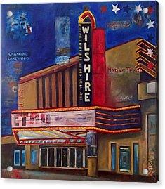 Wilshire Theater Acrylic Print by Katrina Rasmussen