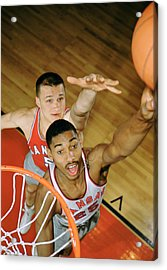 Wilt Chamberlain In College Acrylic Print by Retro Images Archive