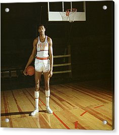 Wilt Chamberlain Stands Tall Acrylic Print by Retro Images Archive