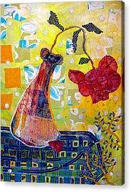 Wilting Rose Acrylic Print by Diane Fine