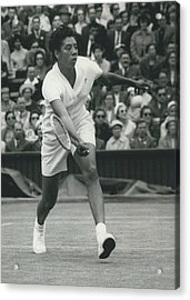 Wimbledon Championships - Second Day..., Althea Gibson In Acrylic Print by Retro Images Archive