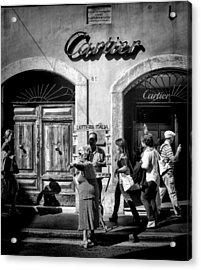 Win Lotto Buy Cartier Acrylic Print by Karen Lindale