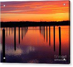 Winchester Bay Sunset Acrylic Print