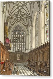Winchester College Chapel, From History Acrylic Print