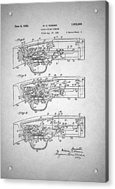 Winchester Slide Action Firearm Patent 1933 Acrylic Print by Mountain Dreams