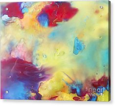 Wind Abstract Painting Acrylic Print by Justyna JBJart