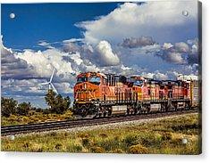 Wind And Rail Acrylic Print