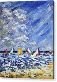 Acrylic Print featuring the painting Wind And Sails by Kathleen Pio