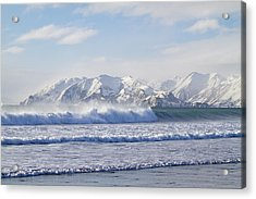 Wind And Waves On Kodiak Acrylic Print by Tim Grams