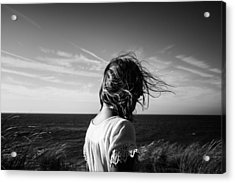 Wind Blowing Acrylic Print by Charo Diez
