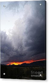 Wind Event At Sundown Acrylic Print