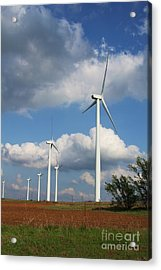 Acrylic Print featuring the photograph Wind Farm And Red Dirt by Jim McCain