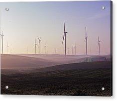 Wind Farm At Dawn Acrylic Print