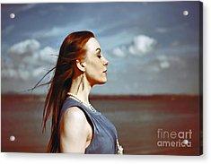 Wind In Her Hair Acrylic Print