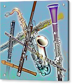 Wind Instruments Acrylic Print by Design Pics Eye Traveller