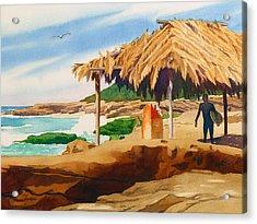 Wind 'n Sea Beach La Jolla Acrylic Print by Mary Helmreich