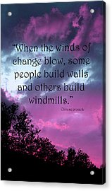Wind Of Change Acrylic Print by Angela Bruno