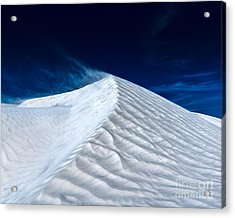 Wind Over White Sands Acrylic Print