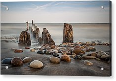 Wind Point Pebbles Acrylic Print