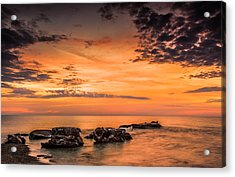 Wind Point Sunrise Acrylic Print