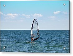 Wind Surfer Acrylic Print by Aimee L Maher Photography and Art Visit ALMGallerydotcom