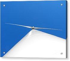 Wind Turbine Blue Sky Acrylic Print