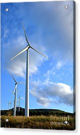 Wind Turbine Farm Acrylic Print by Olivier Le Queinec