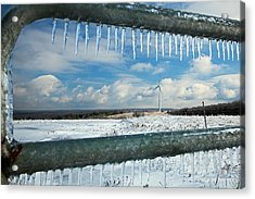 Wind Turbine In Winter Acrylic Print