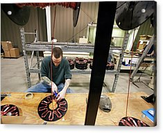 Wind Turbine Manufacturing Acrylic Print by Jim West