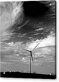 Wind Turbine Acrylic Print by Maria Scarfone