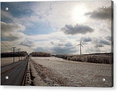 Wind Turbines In Winter Acrylic Print