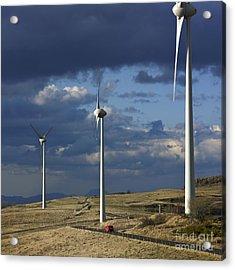 Wind Turbines. Region Auvergne. France Acrylic Print