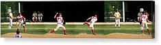 Wind Up And Delivery 4 Panel Composite Digital Art Acrylic Print by Thomas Woolworth