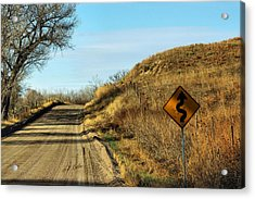 Acrylic Print featuring the photograph Winding Country Road by Bill Kesler