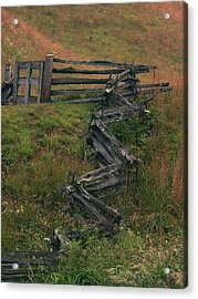 Winding Fence Acrylic Print by Bill Marder