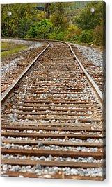 Winding Rails Acrylic Print by Heather Roper
