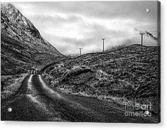 Winding Road In Glen Etive Acrylic Print by John Farnan