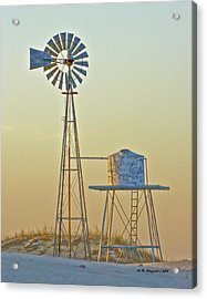 Windmill At Dawn 2011 Acrylic Print