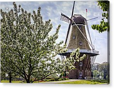 Windmill At Windmill Gardens Holland Acrylic Print