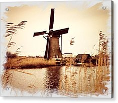 Windmill Acrylic Print by Beril Sirmacek