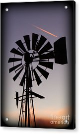 Acrylic Print featuring the photograph Windmill Close-up by Jim McCain