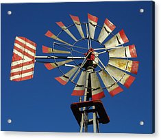 Windmill Close Up Acrylic Print by Kay Sparks