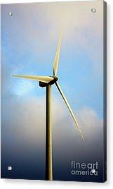 Windmill Dark Blue Sky Acrylic Print