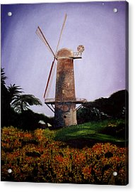 Windmill In Golden Gate Park Acrylic Print by Alexandra Louie