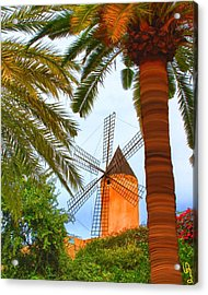 Windmill In Palma De Mallorca Acrylic Print