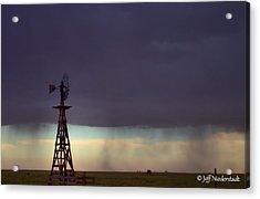 Windmill In The Rain Acrylic Print