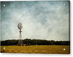 Windmill On The Farm Acrylic Print