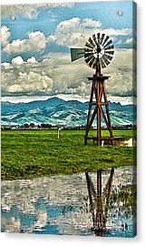 Windmill On The Hills Acrylic Print